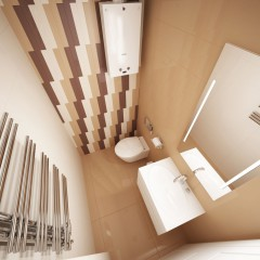Дизайн санузла 4 кв м, фото интерьера в трёхкомнатной квартире – 03