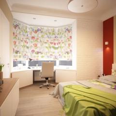 Интерьер спальни, фото в современном стиле – 01