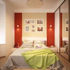Интерьер спальни, фото в современном стиле – 04