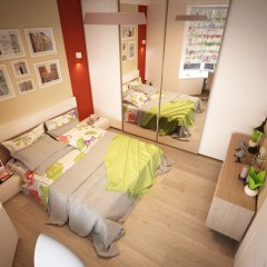 Интерьер спальни, фото в современном стиле – 05