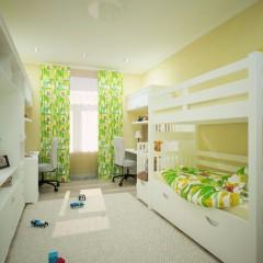 Маленькая детская комната, дизайн, фото интерьера – 05