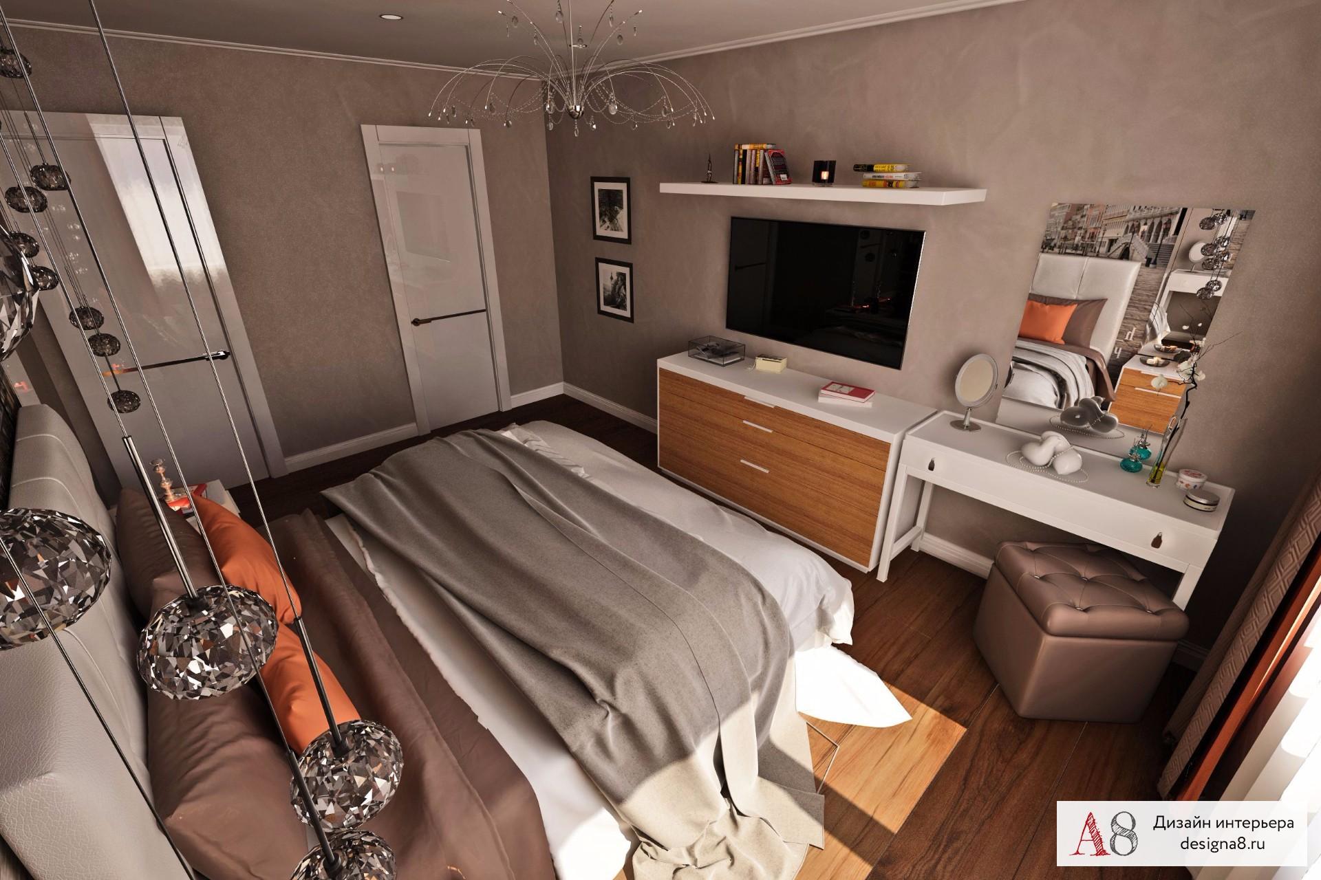 Дизайн интерьера 2 комнатной квартиры 60 кв.м