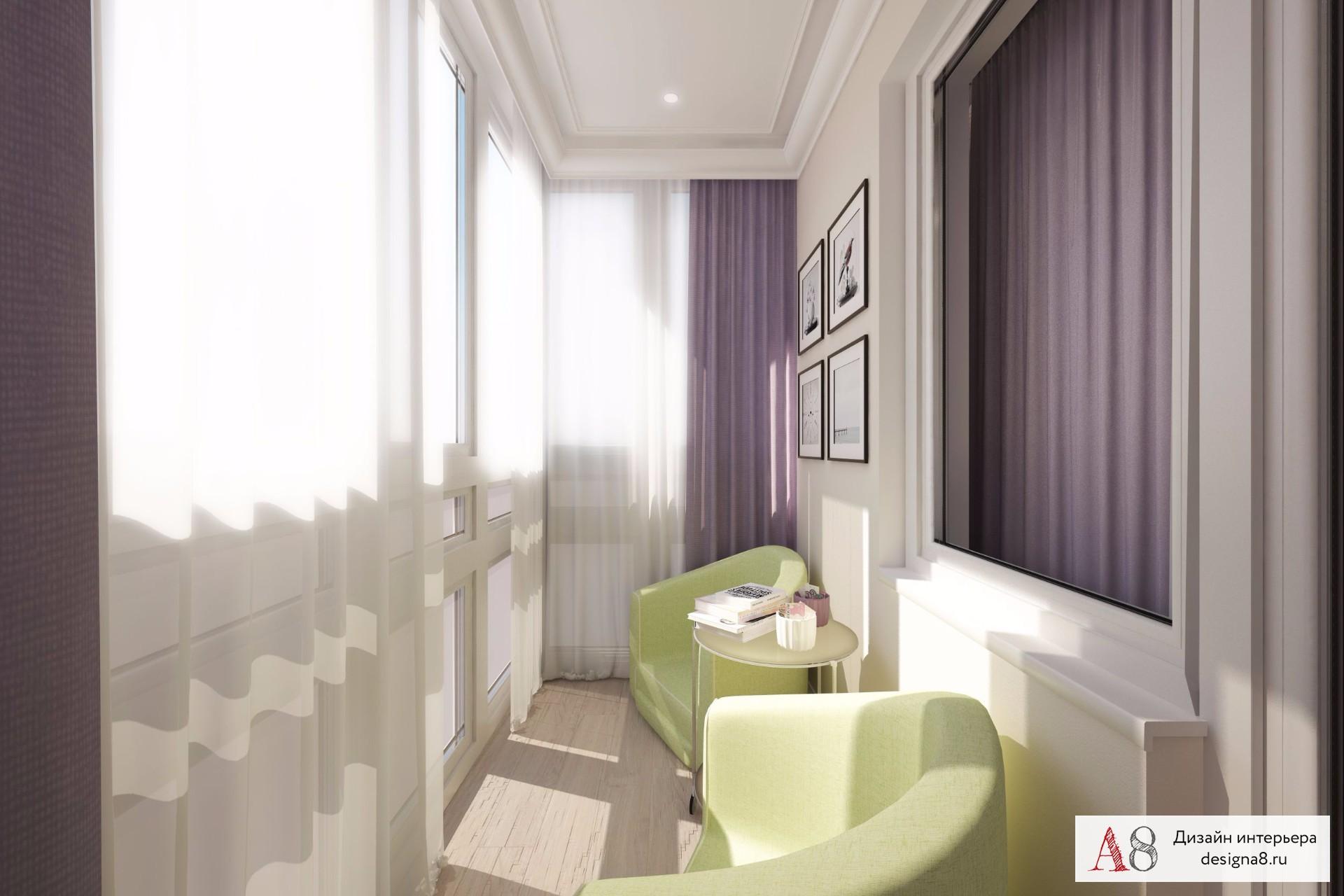 Дизайн проект однокомнатной квартиры в 40 кв.м - фото дизайн.
