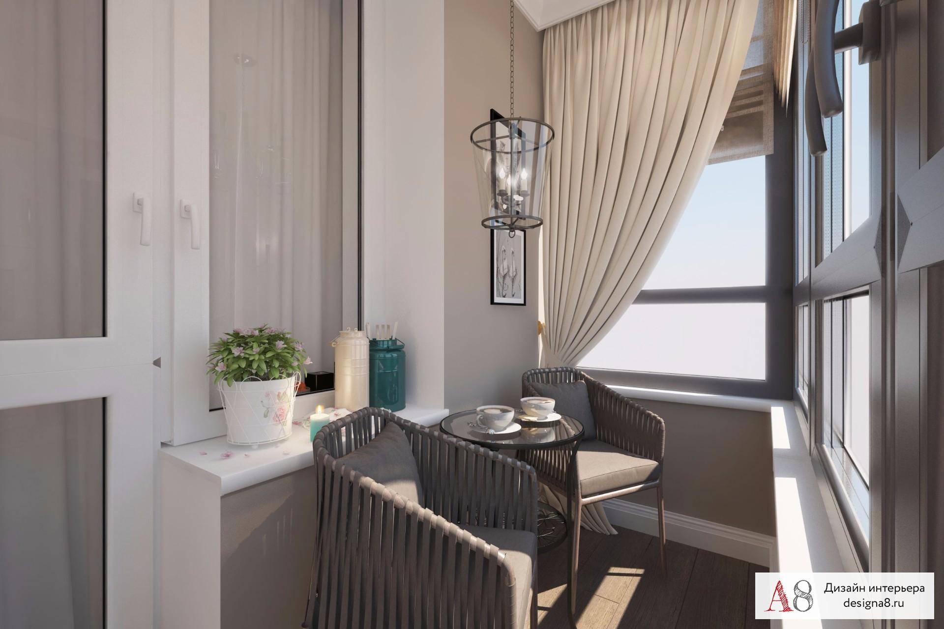 Дизайн проект однокомнатной квартиры на парнасе - фото дизай.