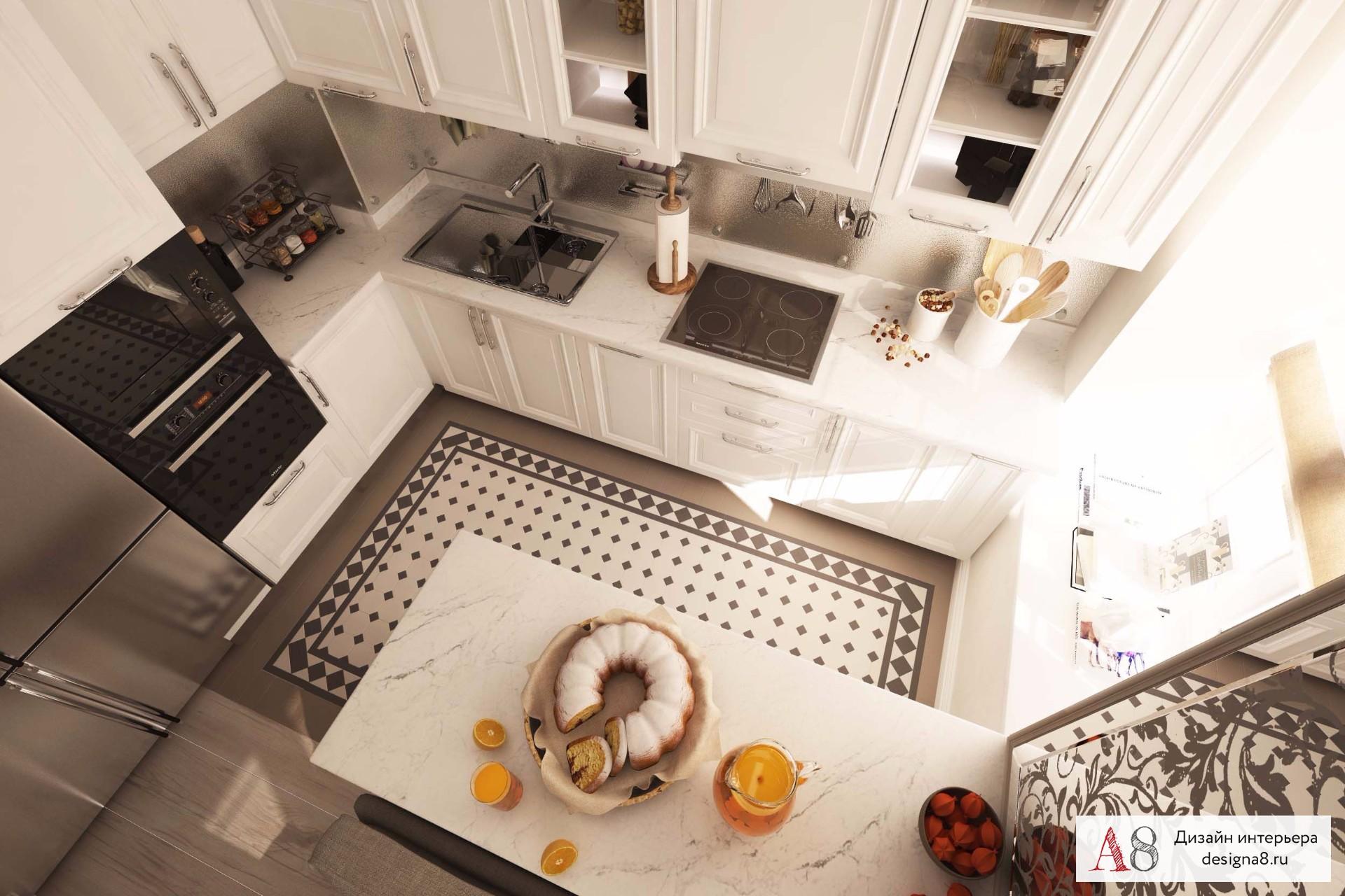 Интерьер кухни фото с верху