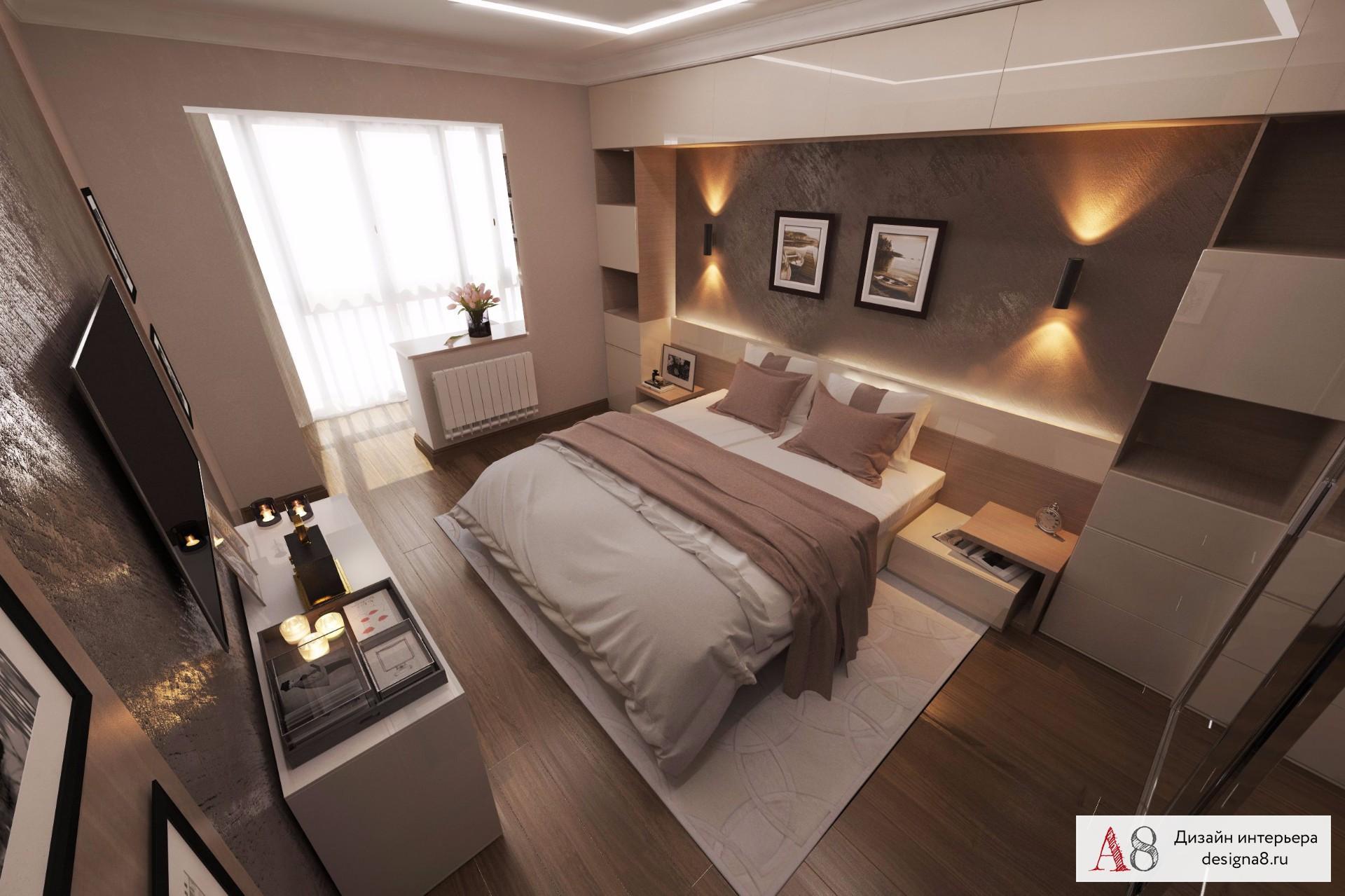 Интерьер спальни фото 17 кв.м