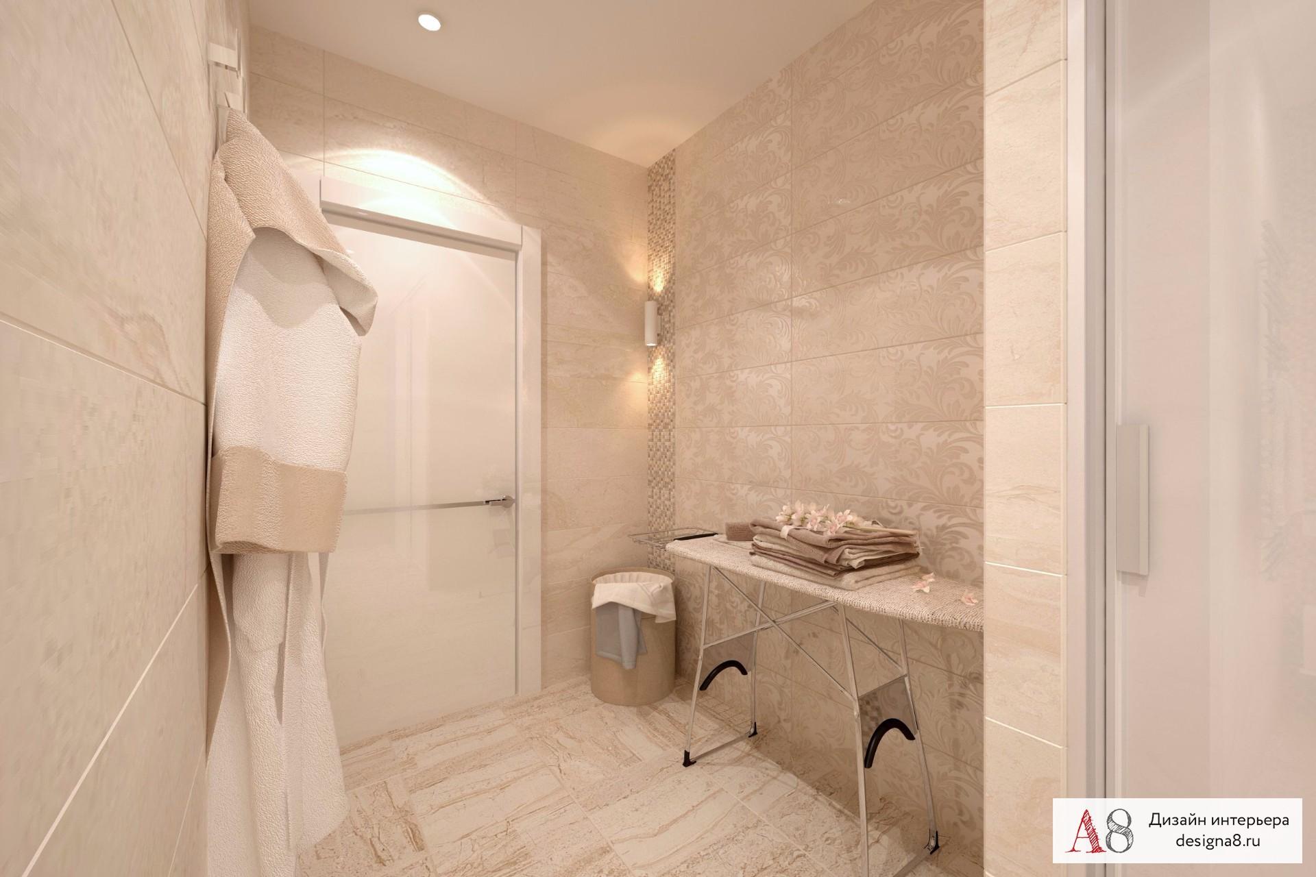 Ванна дизайн для трехкомнатной квартиры