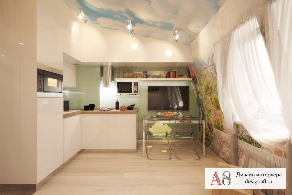 Дизайн интерьера гостиной в квартире-студии в Девяткино – 05