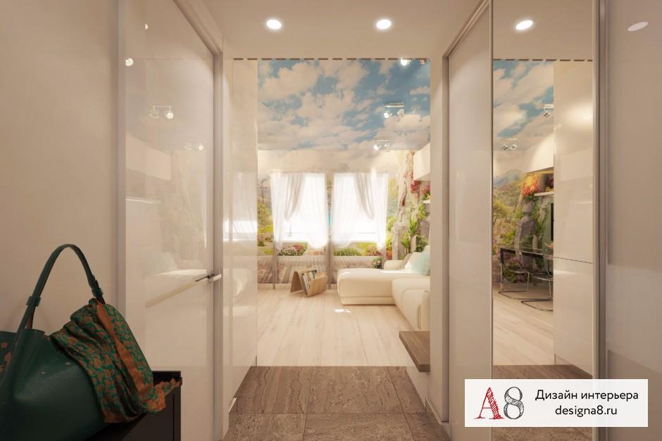 Дизайн интерьера гостиной в квартире-студии в Девяткино – 06