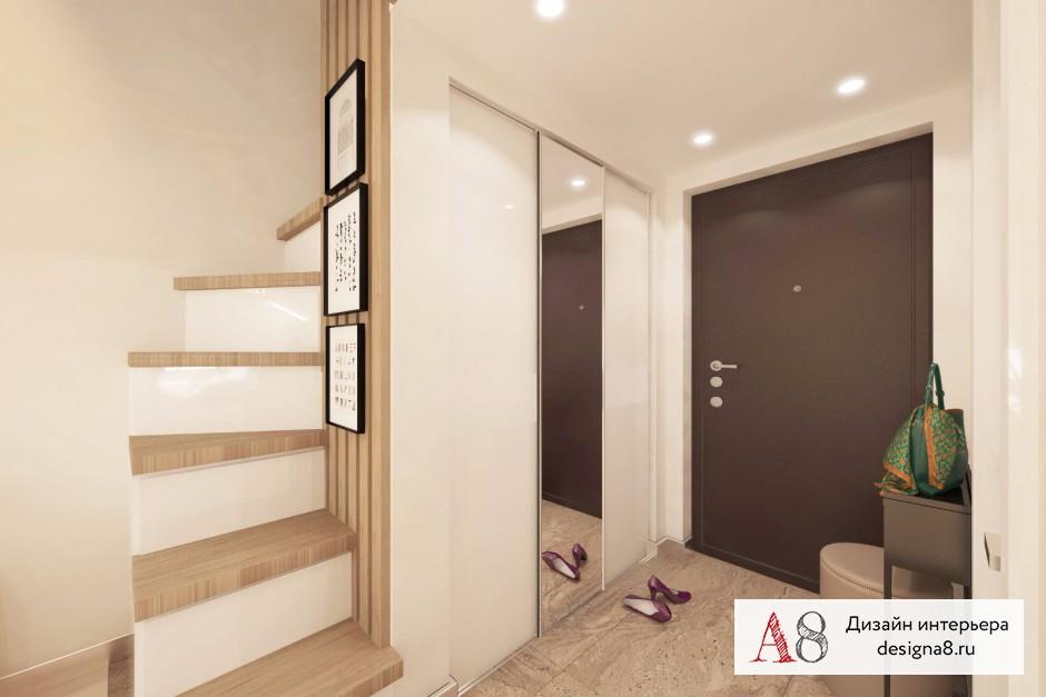 Дизайн интерьера гостиной в квартире-студии в Девяткино – 07