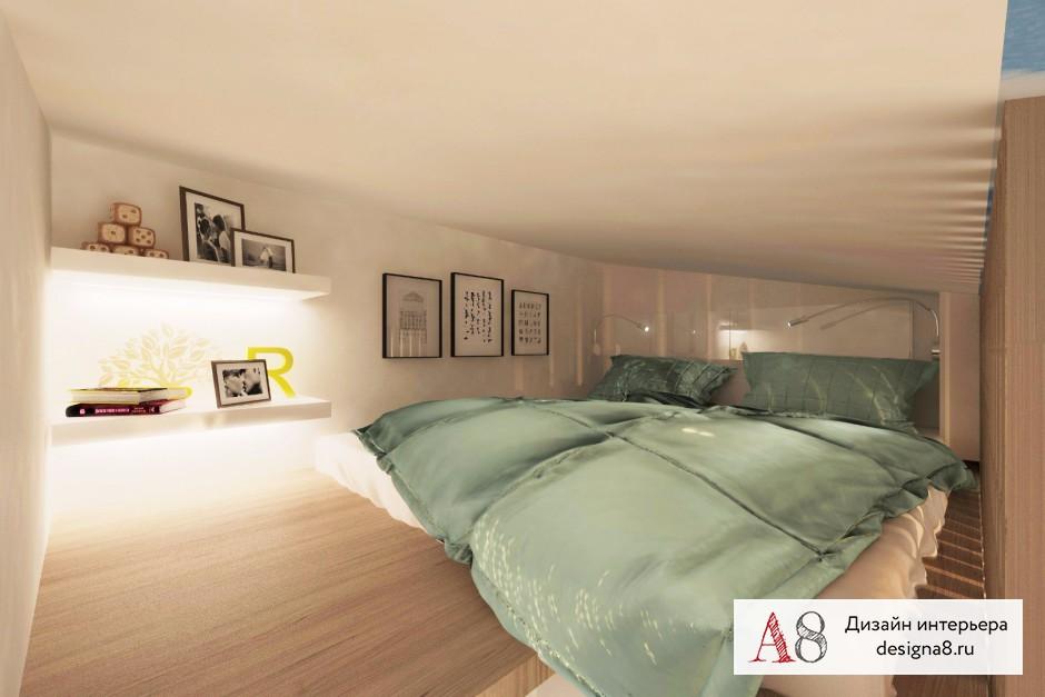 Дизайн интерьера гостиной в квартире-студии в Девяткино – 09