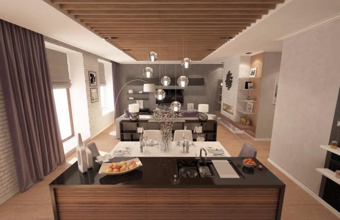 Интерьер трёхкомнатной квартиры на Крестовском острове