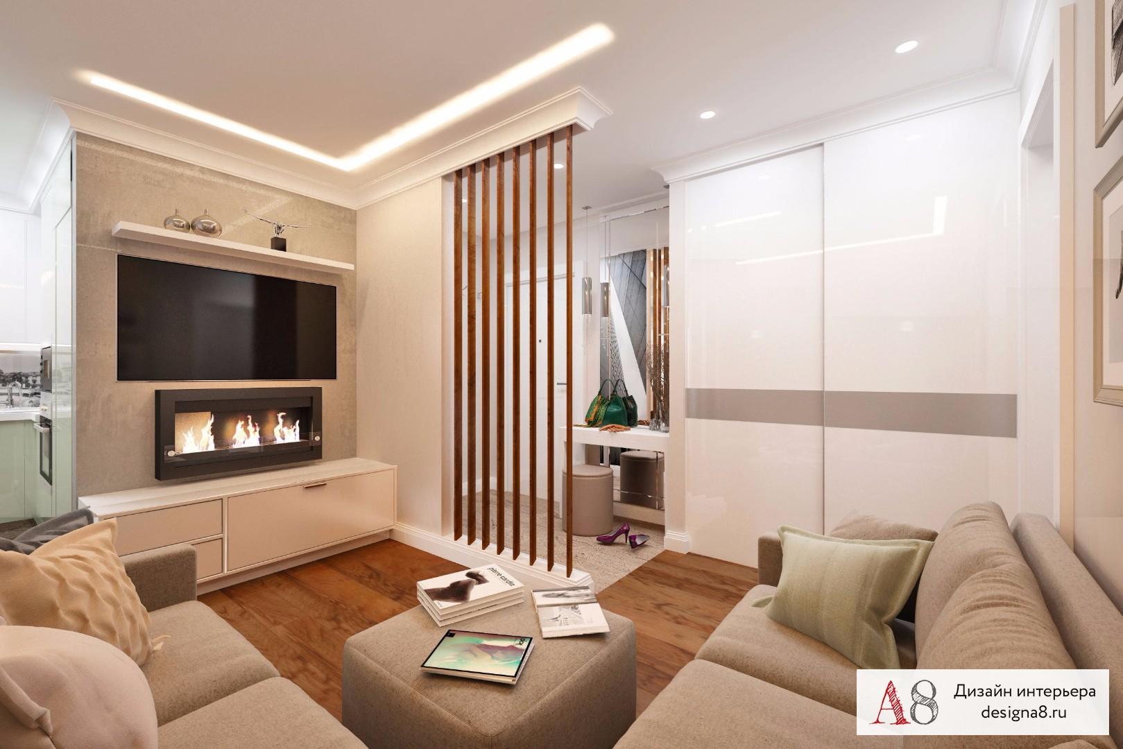 Дизайн двухкомнатной квартиры 60 м