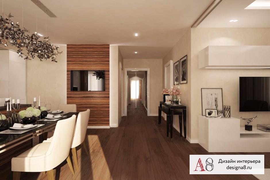 Дизайн 3-х комнатной квартиры 90 кв.м фото интерьера