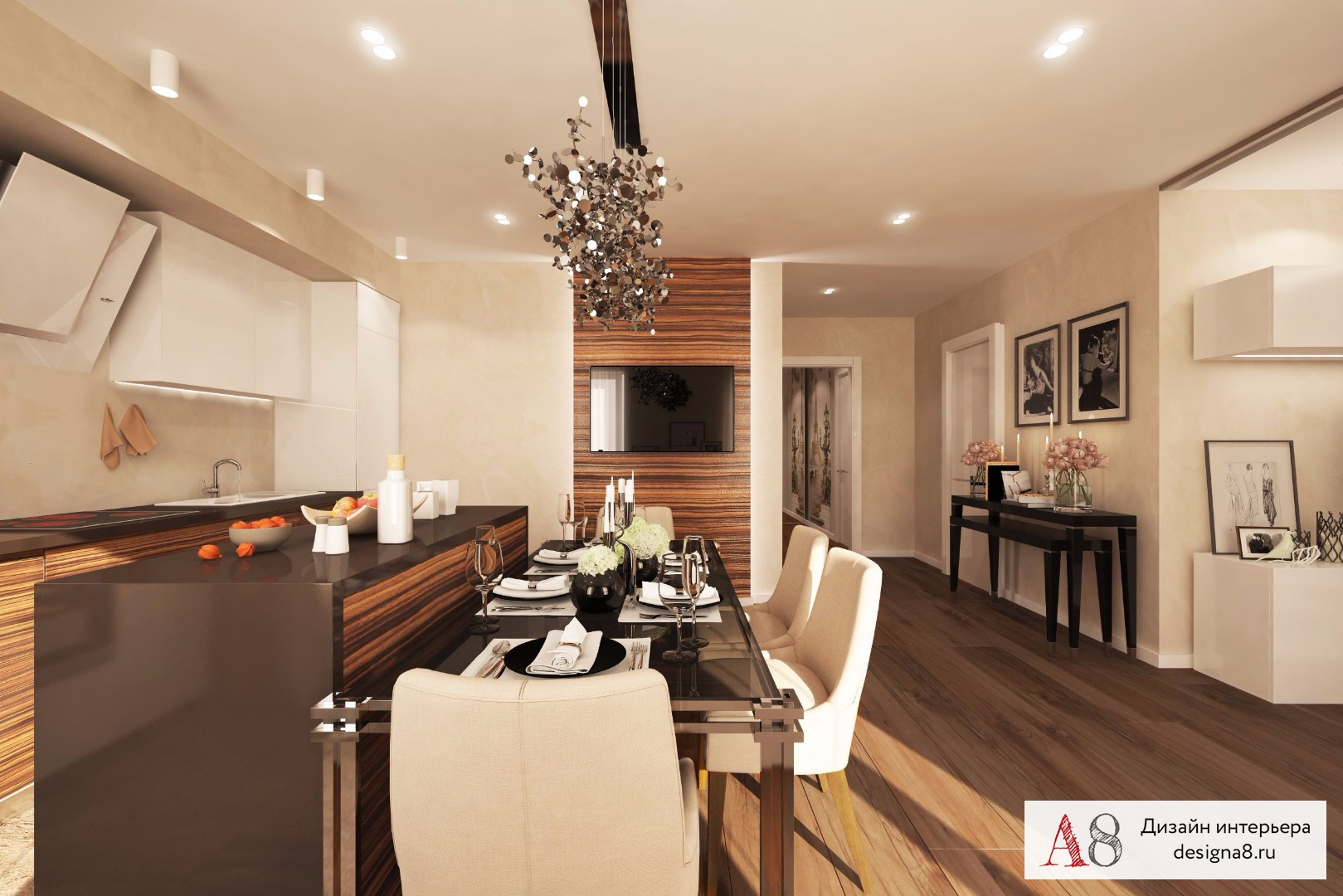 Dizajn 3 izbového apartmánu fotografie