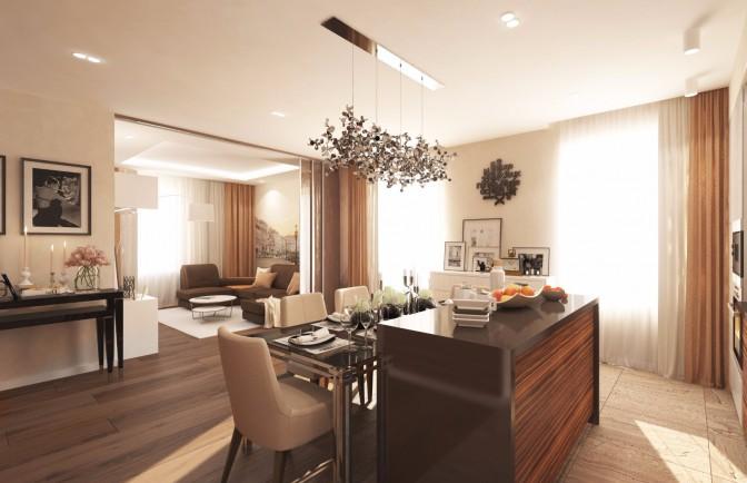 Дизайн-проект 3-х комнатной квартиры в ЖК «Айно»