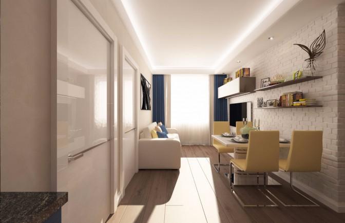 Дизайн проект квартиры в ЖК «Берёзовая Роща»