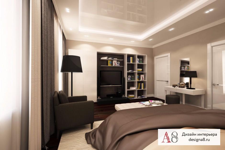 Дизайн спальни, фото в современном стиле – 01