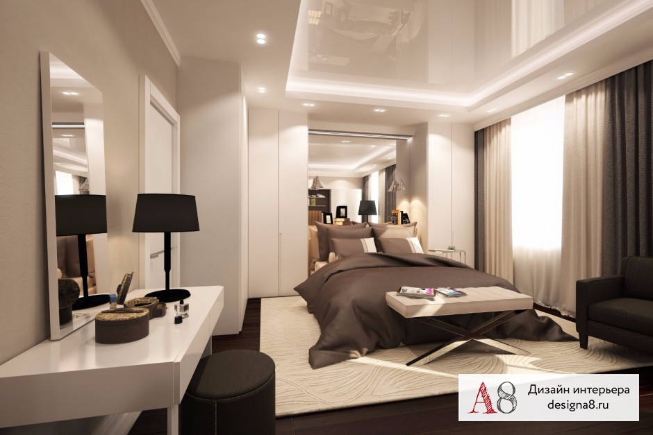 Дизайн спальни, фото в современном стиле – 02