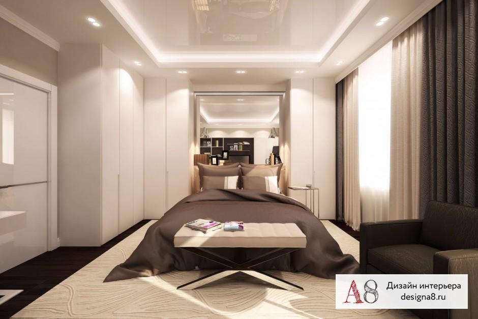 Дизайн спальни, фото в современном стиле – 03