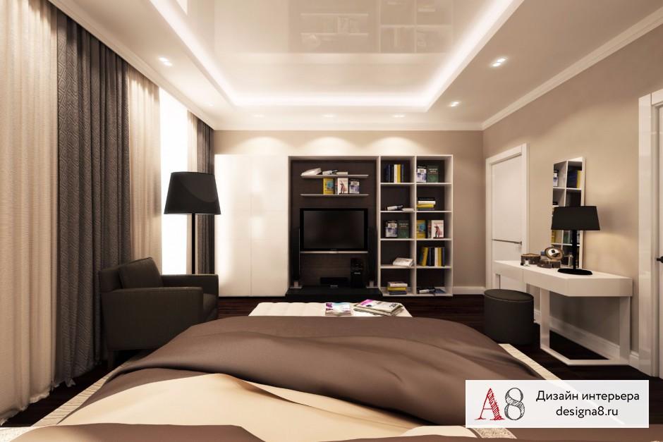 Дизайн спальни, фото в современном стиле – 04