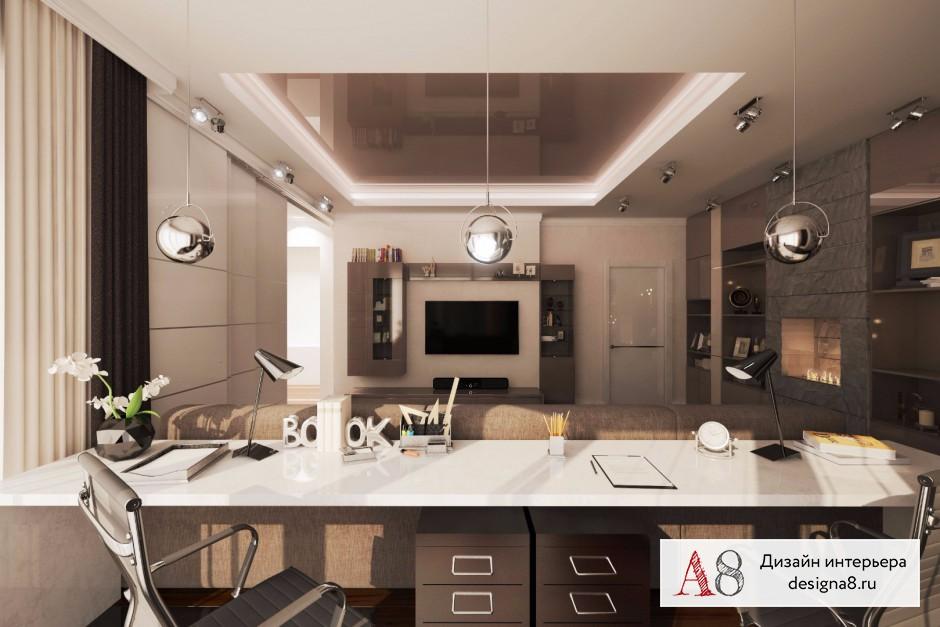 Оформление интерьера гостиной, фото и визуализации – 01