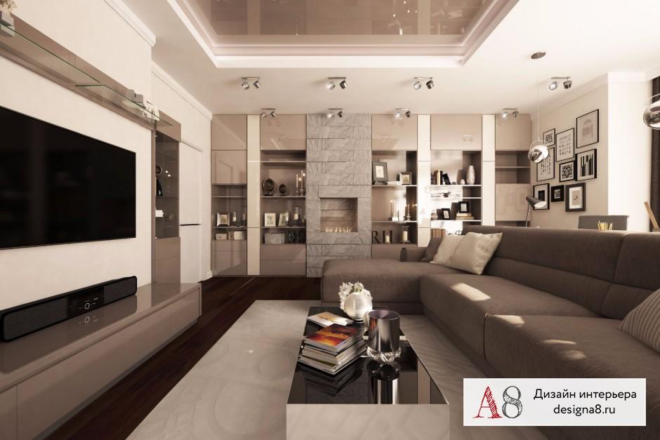 Оформление интерьера гостиной, фото и визуализации – 02