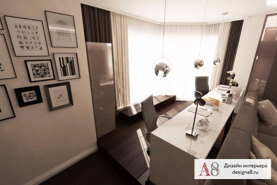 Оформление интерьера гостиной, фото и визуализации – 03