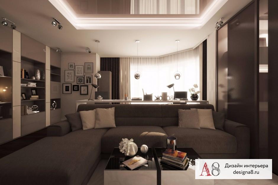 Оформление интерьера гостиной, фото и визуализации – 04