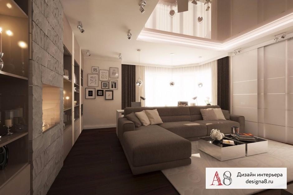 Оформление интерьера гостиной, фото и визуализации – 05