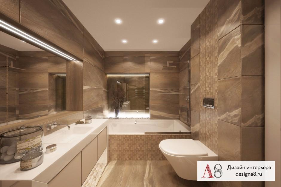 Ванная комната 12 кв м, дизайн и планировка – 01