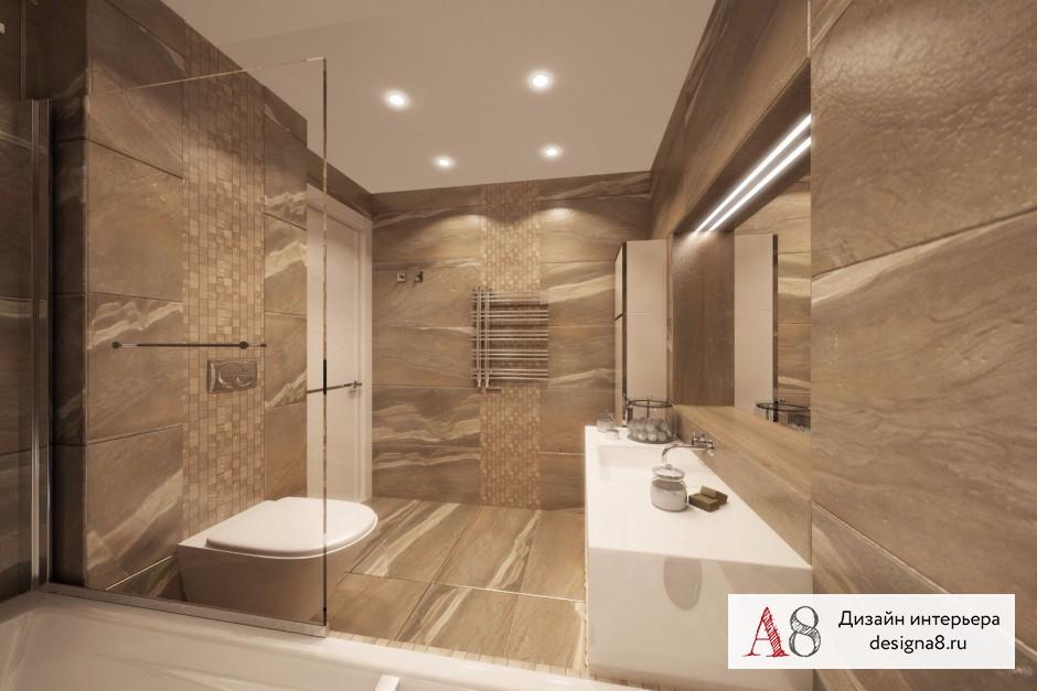 Ванная комната 12 кв м, дизайн и планировка – 02
