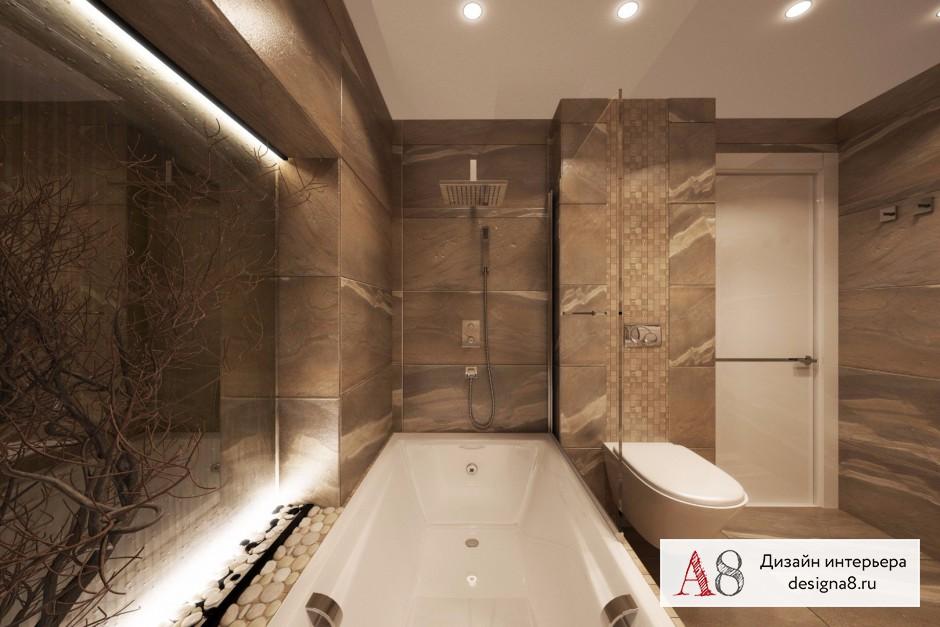 Ванная комната 12 кв м, дизайн и планировка – 03