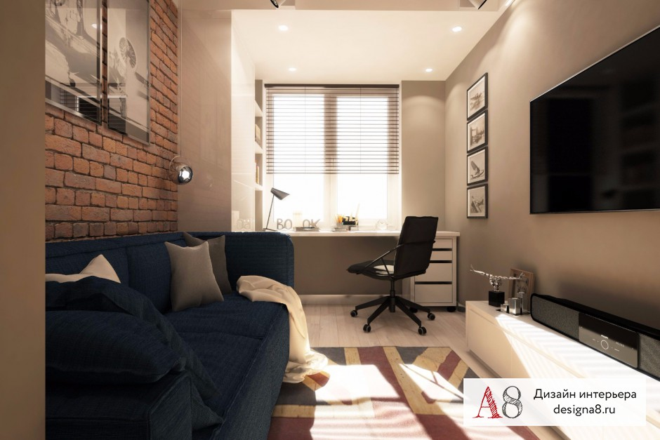 Дизайн комнаты для семьи 12 кв.м