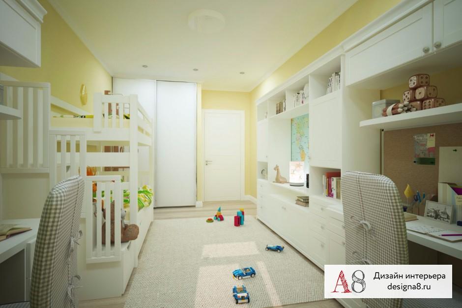 Дизайн интерьера детской – 01