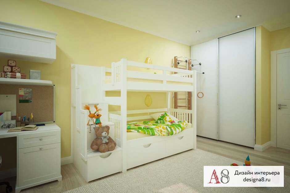Дизайн интерьера детской – 03