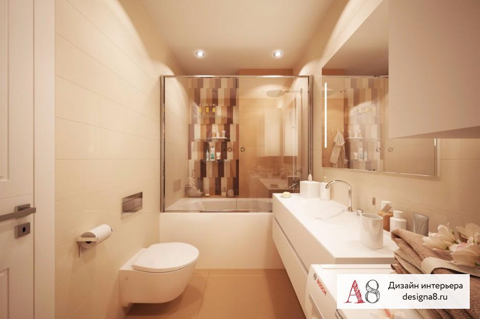 Дизайн интерьера ванной – 01