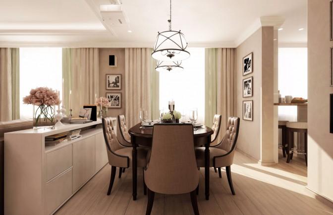 Проект дизайна 3 комнатной квартиры в ЖК «Жемчужный фрегат»