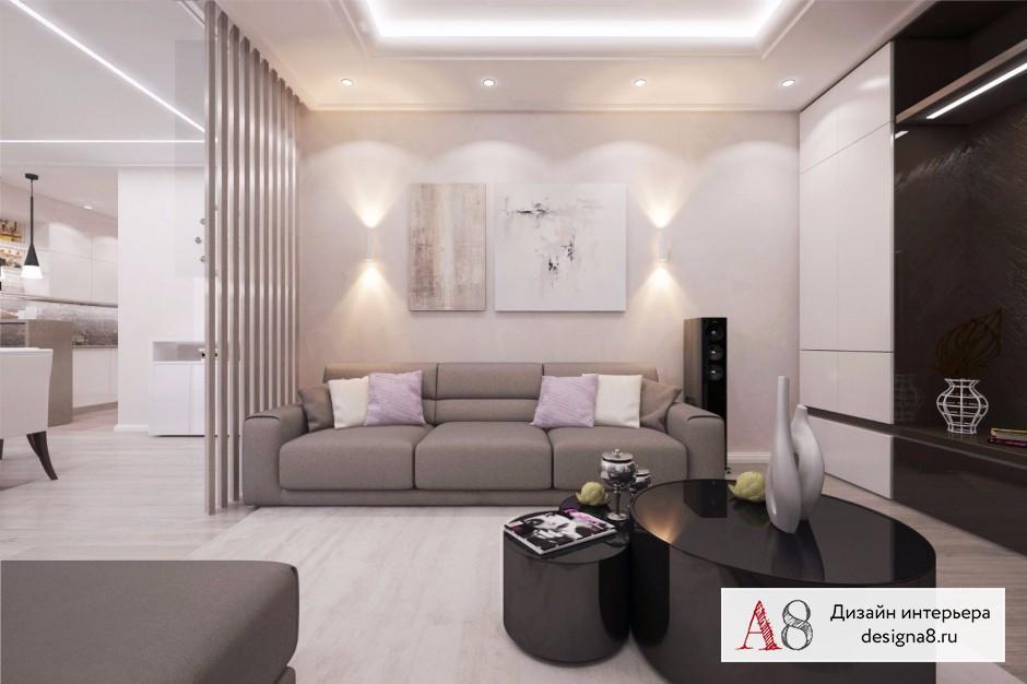 Дизайн интерьера гостиной – 01