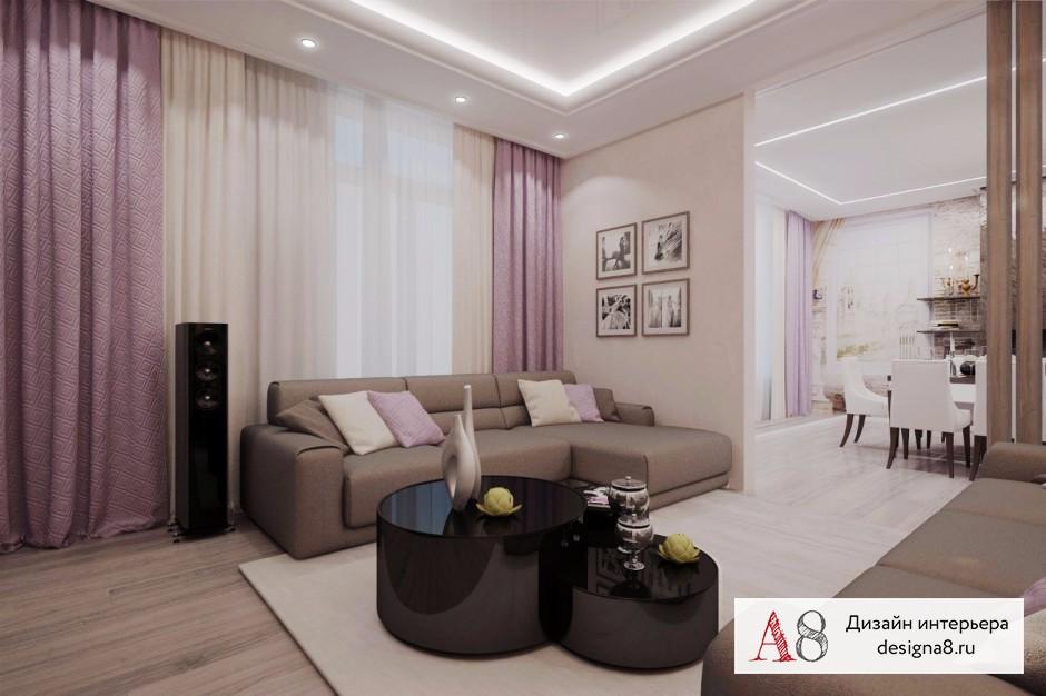 Дизайн интерьера гостиной – 02