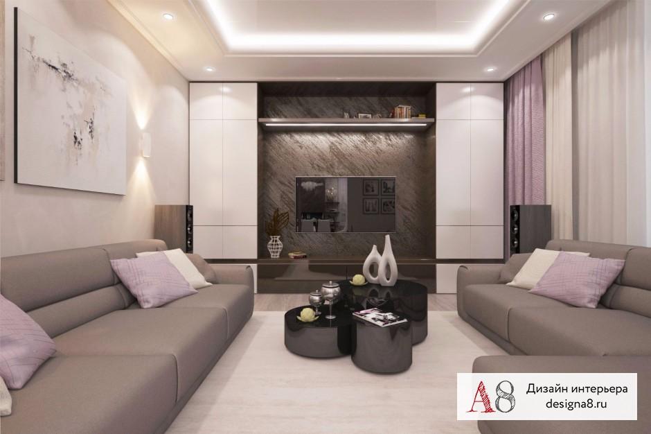 Дизайн интерьера гостиной – 03