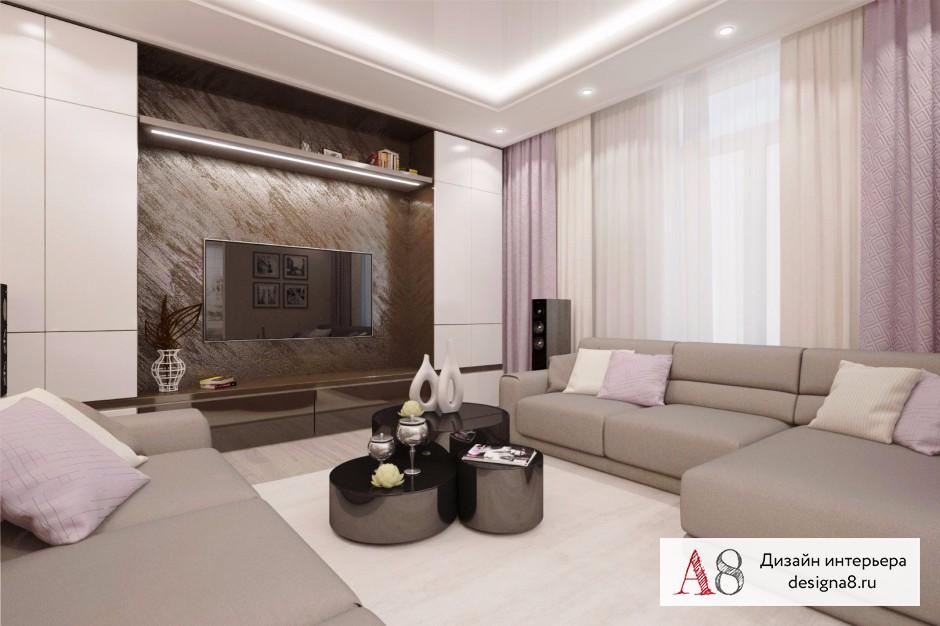 Дизайн интерьера гостиной – 04