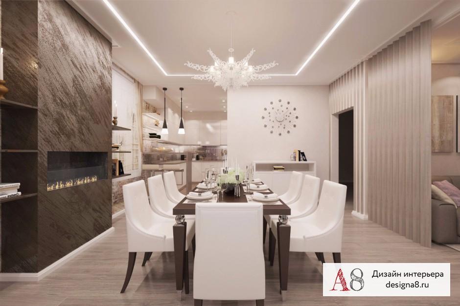 Дизайн интерьера столовой – 01