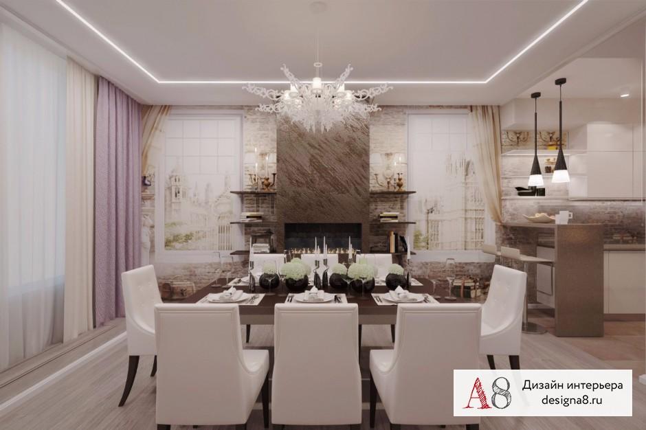 Дизайн интерьера столовой – 03