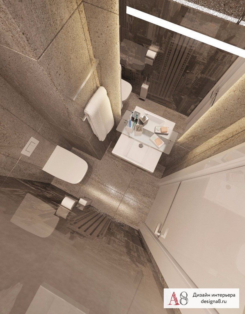Дизайн интерьера туалета – 01