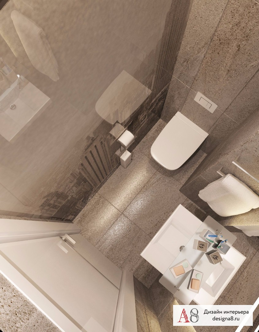 Дизайн интерьера туалета – 02