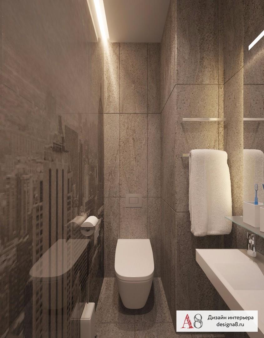 Дизайн интерьера туалета – 03