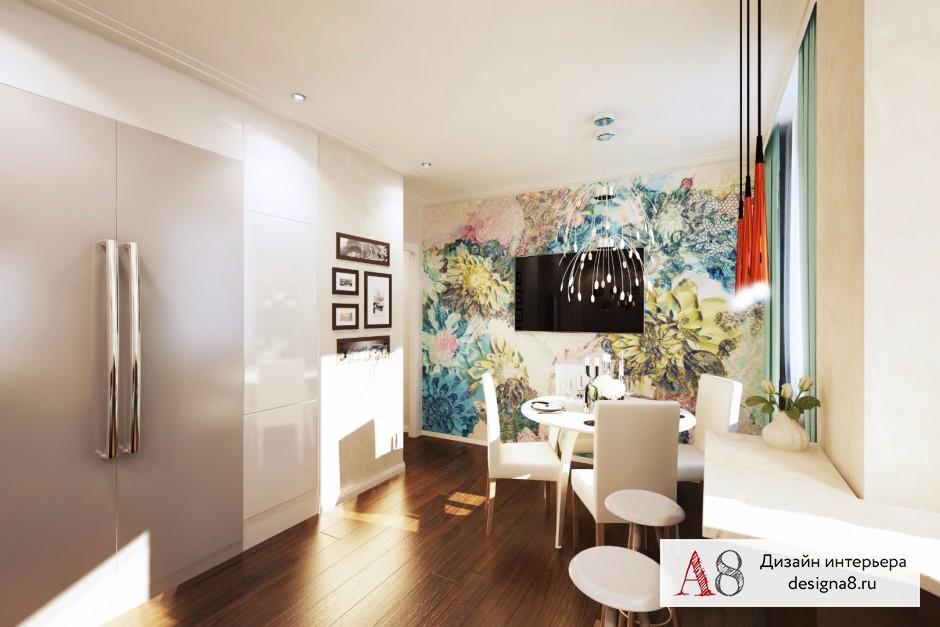 Дизайн интерьера кухни-гостиной – 05