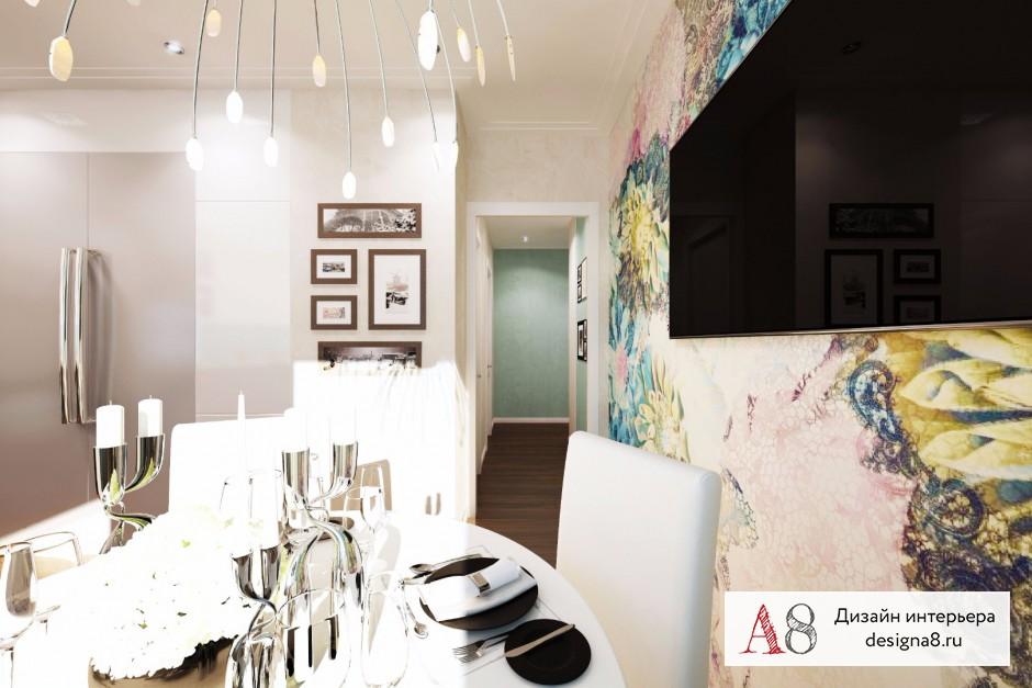 Дизайн интерьера кухни-гостиной – 06