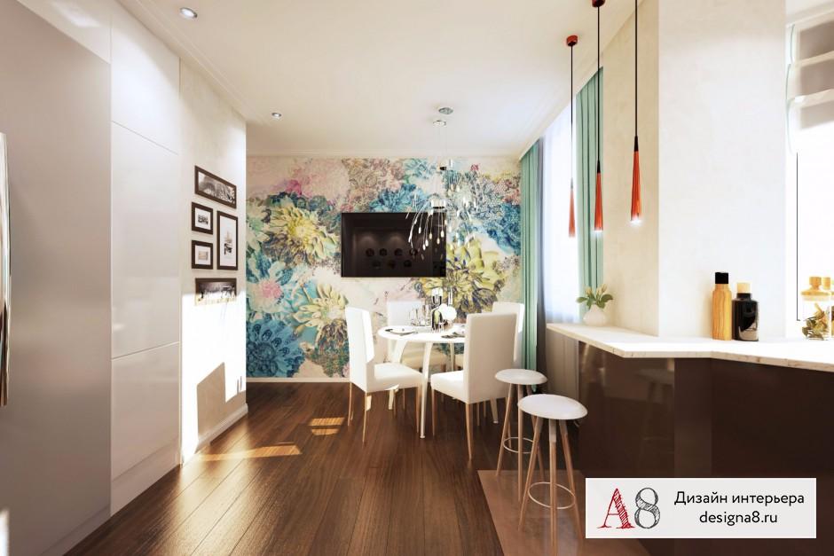 Дизайн интерьера кухни-гостиной – 07